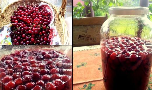 Вино из красной смородины и вишни
